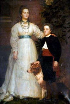 Portrait of Theresa Susey Helen Talbot, Later Marchioness of Londonderry and her son Charles Henry John, Viscount Ingestre (1860–1921) by Valentine Cameron Prinsep, unknown date