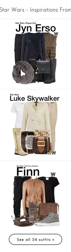 """""""Star Wars - Inspirations From"""" by wearwhatyouwatch ❤ liked on Polyvore featuring rag & bone, Haider Ackermann, Vero Moda, Frye, Betsey Johnson, wearwhatyouwatch, film, starwars, Cotton Citizen and Sarah Pacini"""