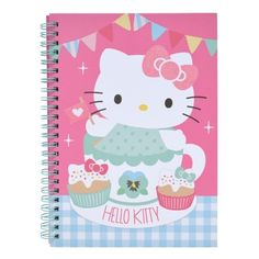 Hello Kitty Tea Party A5 Notebook ❤ liked on Polyvore featuring home, home decor and stationery