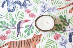 rebecca turner jungle fun print table linen for jungle baby shower