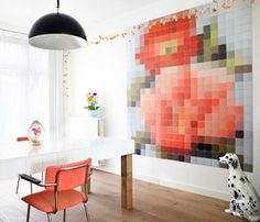ontwerp je eigen collage, behang of roomdivider