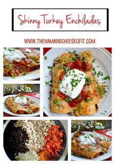 Healthy Freezer Meal Turkey Enchiladas. #groundturkey #enchiladas #skinny #healthy #blackbeans #simple #freezermeal