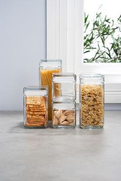 Stackable Glass Jars from $16.95. Available from Howards Storage World