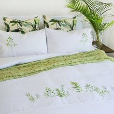 Top 5 Inexpensive BedRoom ideas Tell us how much you love this clean and fresh botanical design embroidered design on our NEW bedding. Interior Styling, Interior Decorating, Interior Design, Girl Decor, Good Night Sleep, Duvet Cover Sets, Bedroom Decor, Bedroom Ideas, Room Inspiration