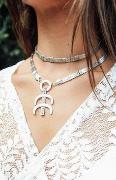 New Moon Choker - Silver