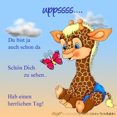Bei so einer niedlichen Giraffe und die Freude, die sie ausstrahlt, kann der Tag nur gut werden.