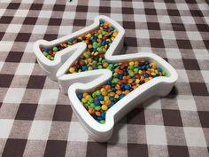 letras huecas polifan candy bar cumpleaños mesa decoracion
