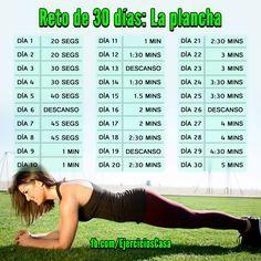 rutina de ejercicios para abdomen plano en 30 dias - Buscar con Google