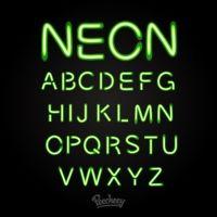 green neon font