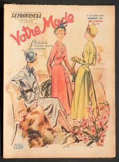 'VOTRE MODE' FRENCH VINTAGE NEWSPAPER 6 OCTOBER 1949 | eBay