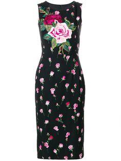 Compre Dolce & Gabbana Vestido floral com aplicações.