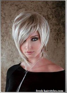 Asymmetrical haircut and wonderful color Shaggy Short Hair, Short Sassy Haircuts, Cute Hairstyles For Short Hair, Pretty Hairstyles, Bob Hairstyles, Short Asymmetrical Haircut, Casual Hairstyles, Pixie Haircuts, Latest Hairstyles