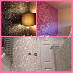 Our glitter is 100 suitable to be mixed with Mod Podge Gloss or PVA glue to create the most gorgeous sparkly room in your house. We do lots of different colours of bulk glitter 😀 Glitter Bedroom, Glitter Paint For Walls, Resin Art Supplies, Living Room Decor, Bedroom Decor, Glam Room, Big Girl Rooms, My Room, Bulk Glitter