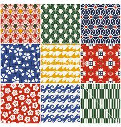 Seamless japanese style kimono pattern vector 1111118 - by paul_june on VectorStock® Japanese Textiles, Japanese Patterns, Japanese Prints, Japanese Fabric, Japanese Design, Japanese Kimono, Japanese Style, Traditional Japanese, Design Textile