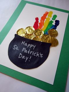 handprint rainbow, march bulletin board
