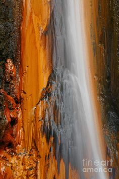 ✮ Waterfall of Volcanic Thermal Water - Sao Miguel island, Azores, Portugal