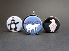 Polar Bear Necklace - Penguin Necklace Set
