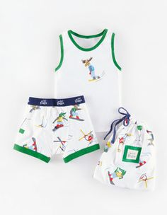 Moose Boxers and Vest Set Boden