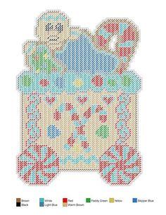 P Plastic Canvas Christmas, Plastic Canvas Crafts, Plastic Canvas Patterns, Christmas Train, Christmas Cross, Crochet Christmas, Christmas Items, Christmas Fun, Gingerbread Train