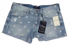 Lucky Brand Jeans Womens Shorts Denim Cutoffs Distressed Blue Sz 0/25 NEW $79.50 #LuckyBrand #Denim