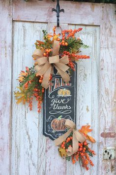 Fall door hanger, Swag for fall, Harvest Swag,Fall Swag, Pumpkin Swag, Autumn Swag,Door wreath fall,Autumn Wreath,Thanksgiving Wreath, fall