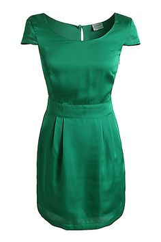Satijnen jurk groen, Esprit