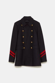 Image 8 of SHORT COAT WITH STRIPES from Zara