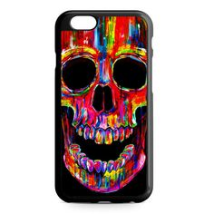Head Skull Water Colors iPhone 4/4S/5/5S/5C/6/6S/6+/6S+ Heavy Duty Case
