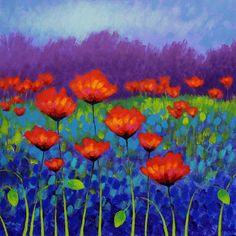 Poppy Meadow Painting  - Poppy Meadow Fine Art Print