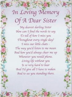 Miss My Sisters Tears In Heaven Ideas Pinte