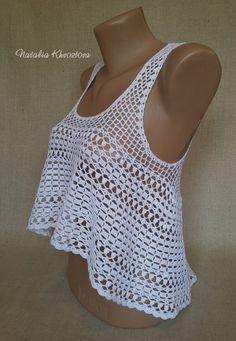 Top crochet playa ganchillo Sexy top tapa del ganchillo