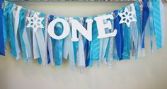 Winter ONEderland Highchair Banner. Perfect for the highchair or sweets table.
