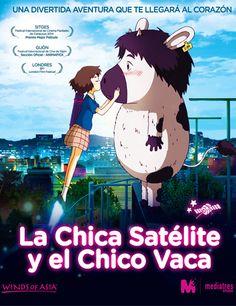 Poster de La chica satélite y el chico vaca http://gnula.nu/animacion/ver-la-chica-satelite-y-el-chico-vaca-2014-online/