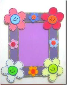 Mother's day project ideas for kids Mothers Day Flowers, Mothers Day Crafts, Felt Crafts Kids, Mother's Day Projects, Quick And Easy Crafts, Art N Craft, Frame Crafts, Clothes Crafts, Art Activities