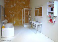 Badkamer Voor Poppenhuis : Nieuwe poppenhuis miniatuur accessoires doucheruimte badkamer