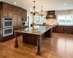 Beautiful kitchen and beautiful Red Oak hardwood floors!
