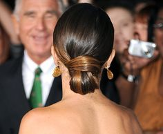 Nikki Reed's chic bun at the Breaking Dawn 2 premiere