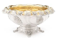 Chrysanthemum Pattern Silver Punch Bowl, Tiffany & Co., Circa 1895 | Lot | Sotheby's