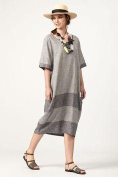 PLS fashion : Oversized φόρεμα ρίγα (4043) Short Sleeve Dresses, Dresses With Sleeves, Linen Dresses, Shirt Dress, T Shirt, Fashion, Supreme T Shirt, Moda, Shirtdress