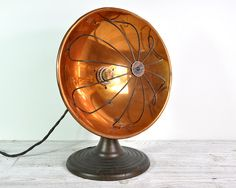 Vintage Industrial Copper and Metal Lamp / Industrial Lighting on Etsy, Sold