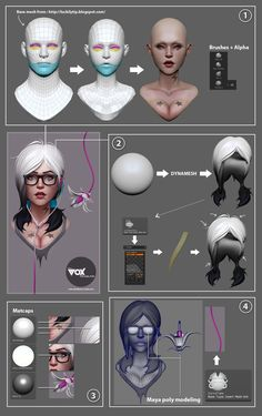 Photoshop/Zbrush: Painting and creating art from zbrush to photoshop