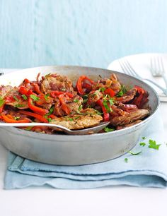 This recipe for pork fillet with pepper stew feeds 4 in under an hour and comes in at under 200 calories - perfect for the 5:2 diet. Plus, you can freeze any extra