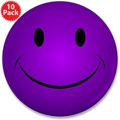 Purple Smiley 3.5 Button (10 pack)