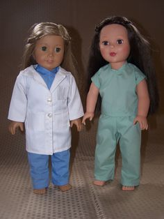 18 Inch Doll Clothes: Lab Coat and Scrubs for American Girl by ICImagination on Etsy