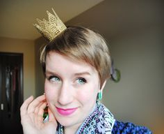 The Darling Apartment: Gold Lace Crown DIY Project