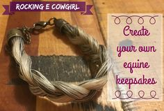 How to: Make your own horse-hair keepsakes
