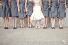 These aren't my bridesmaid dresses, but totally the same color:)  The real pop of color will be the flowers