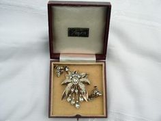 Vintage Sterling Silver Simpson Brooch in original box with near match earrings Brooch, Jewels, Jewellery, Sterling Silver, The Originals, Box, Earrings, Vintage, Ear Rings