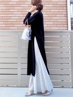 Street Hijab Fashion, Fashion Pants, Fashion Outfits, Womens Fashion, Long Skirt Hijab, Parisienne Chic, Modesty Fashion, Modest Wear, Elegant Outfit