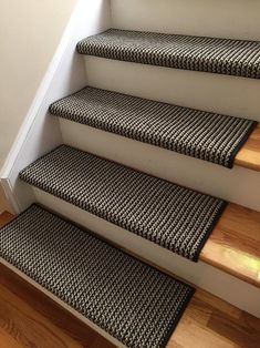 Black Jack New Zealand wool! - TRUE Bullnose ™ Carpet Padded Stair Runner Replacement for Style, Comfort and Safety (each available) , Wall Carpet, Bedroom Carpet, Shaw Carpet, Carpet Stair Treads, Carpet Staircase, Staircase Remodel, Staircase Runner, Carpet Manufacturers, Houses